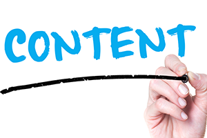 "graphic indicating the word ""content"""