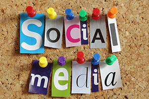 "image of graphic display of term ""social media"""